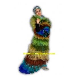 لباس نمایشی و بالماسکه طاووس