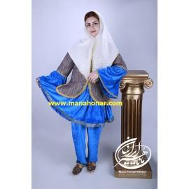 لباس قاجاری طاووس