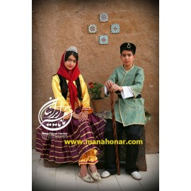 لباس پسرانه قاجار نایب میرزا