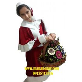 لباس بابانوئل دختران