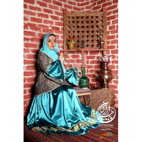 لباس قاجار آی گل